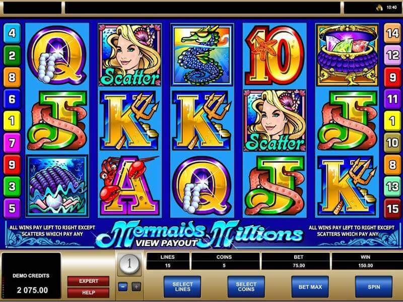 Mermaids Millions Slot Game