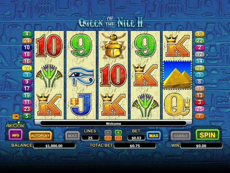 Queen of the Nile 2 Slot Machine