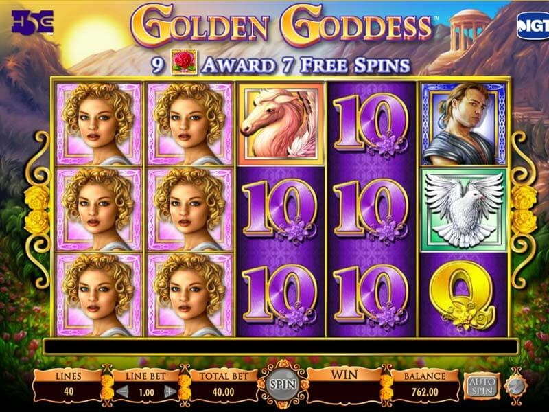 Golden Goddess Slot Machines